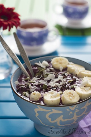 Purple Pleasure Smoothie Bowl | Farr Out Fine Art / The Kitchen Witch